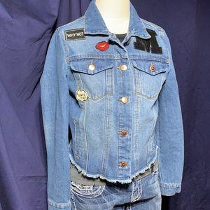 Highway Jeans Denim cut jacket w/patches